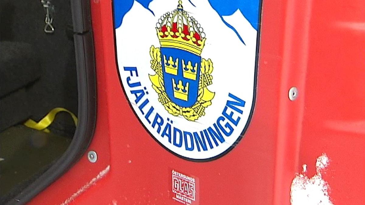 Fjällräddningen logo. Foto: SVT