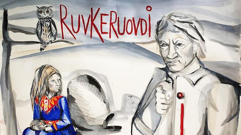 Ruvkeruovdi, barnradio. Bild av Annica Waara för Sameradion & SVT Sápmis nya barnradio Ruvkeruovdi.