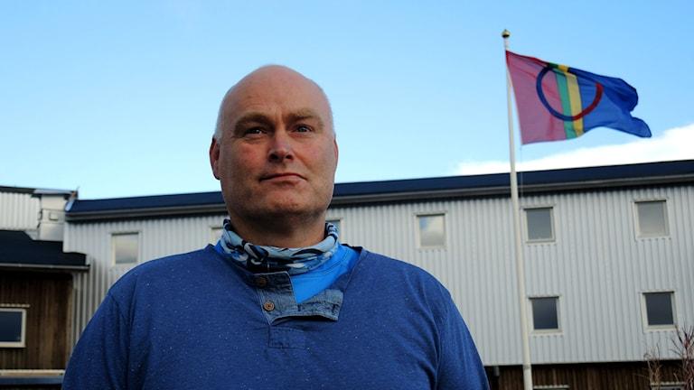 Stig Morten Kristensen, Duoddara Ráfe - Pitesamisk senter. Foto: Sameradion & SVT Sápmi