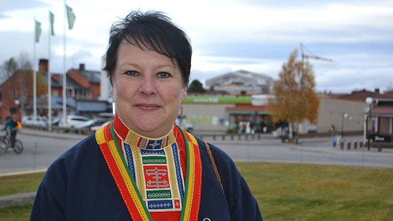 Sametingets vice ordförande Mona Persson deltog under 50- årsjubileums middag. Foto: Marica Blind/Sameradion