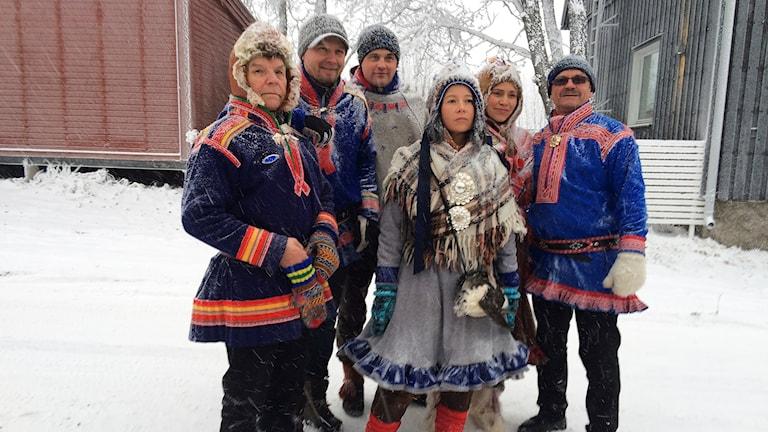 Run for your life: Klimatkämpar med Jenni Laiti i spetsen. Foto: Máret Steinfjell/ Sameradion & SVT Sápmi