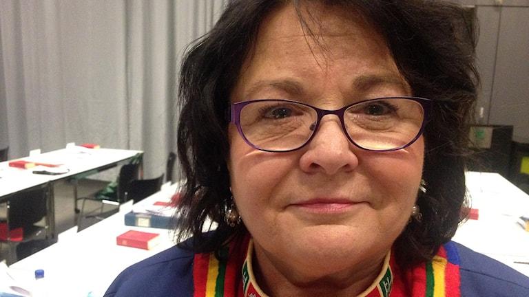 Agneta Granström, ledamot i kyrkomötet för Miljöpartiet. Foto: Jörgen Heikki, Sameradion & SVT Sápmi.