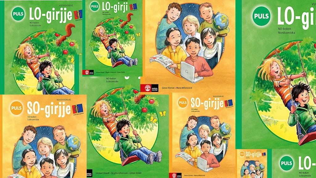 Läromedel i olika ämnen på olika samiska språkvarieteter.