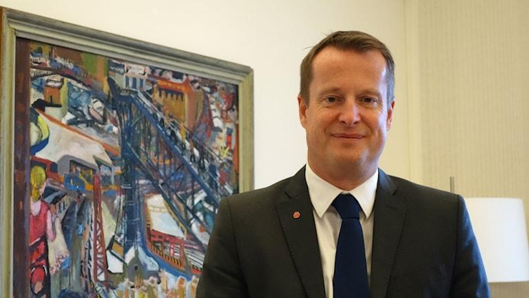 Inrikesminister Anders Ygeman. Foto: David Rydenfalk/ Sameradion & SVT Sápmi