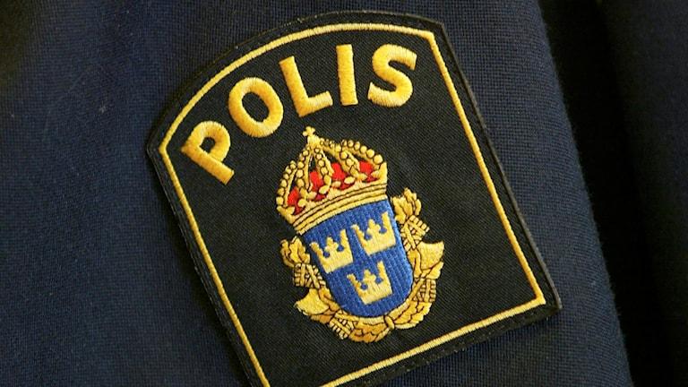 Polismärke. Foto: Henrik Montgomery/ TT