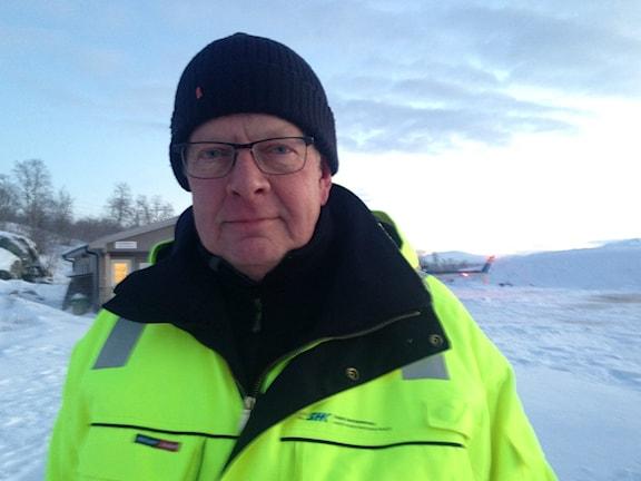 Nicolas Seger är Statens haverikommission utredningsledare. Foto: Anne Marit Päiviö/Sameradion & SVT Sápmi