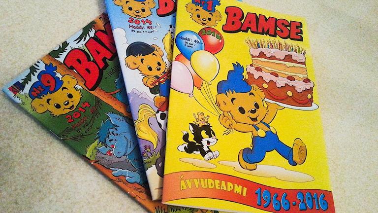 Bamse på samiska. Foto: Thomas Sarri/ Sameradion & SVT Sápmi