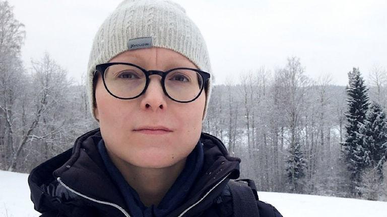 Inger-Ann Omma från Vapstens sameby. Foto: David Rydenfalk/ Sameradion & SVT Sápmi.