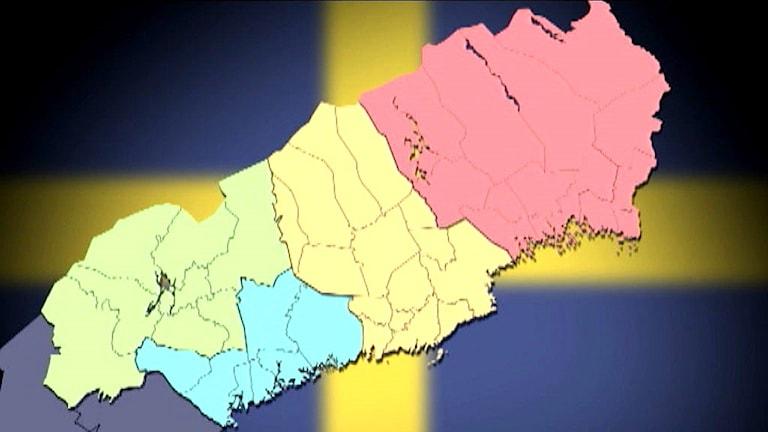 Karta storlän Norrbotten. Grafik: SVT
