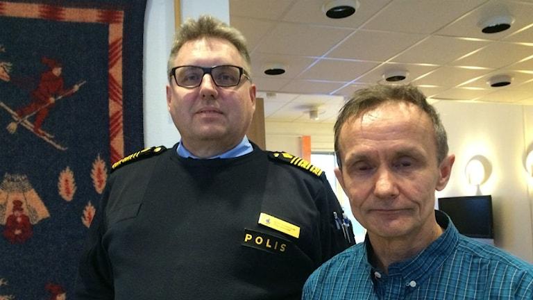 Klas Johansson, polisregionchef i Norr & Håkan Jonsson, Sametinget styrelseordförande