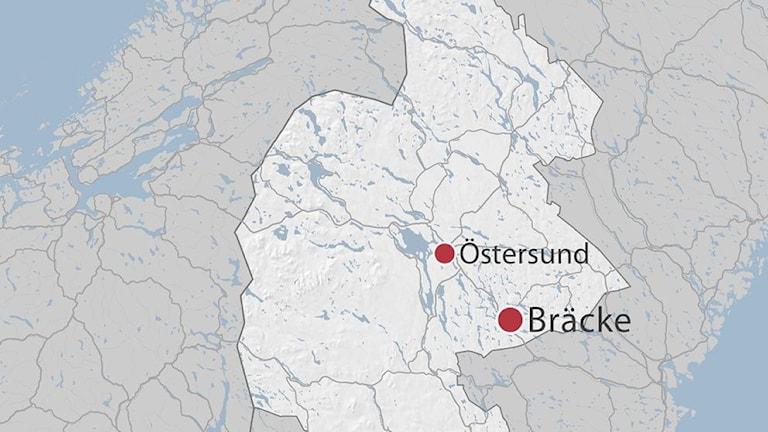 Karta Bräcke Jämtland