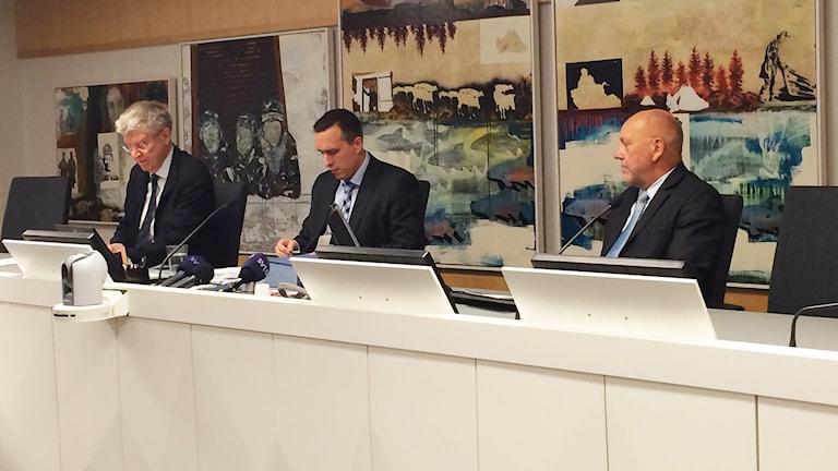 Girjas mot staten: Domarna i rättssalen i Gällivare inför domen i målet Girjas mot staten. Foto: Anne-Ravna Allas/ Sameradion & SVT Sápmi