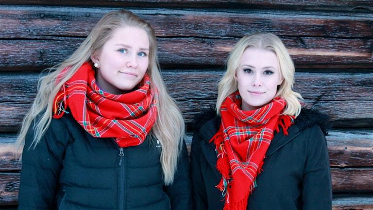 Stina Larsson & Amanda Stenberg, Sandbackaskolan Arvidsjaur Foto: Privat