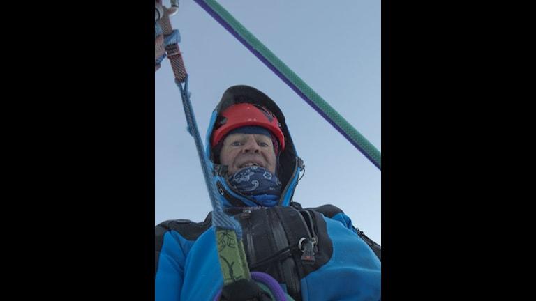 Rick McGregor under klättring.