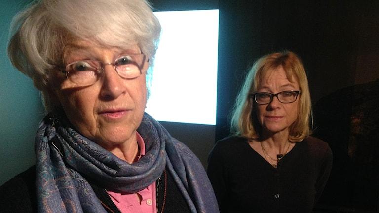 Inger Zachrisson och Inga Ullén. Foto: Jörgen Heikki, SR Sameradion & SVT Sápmi.