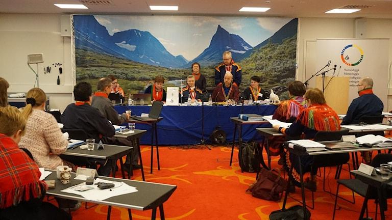 Votering när Sametinget höll plenum i Gällivare