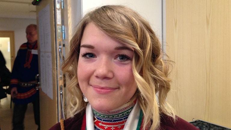 Johanna Njaita, Jokkmokk, ny ordförande i Sametingets ungdomsråd. Foto: Lisa Utsi/Sameradion & SVT Sápmi
