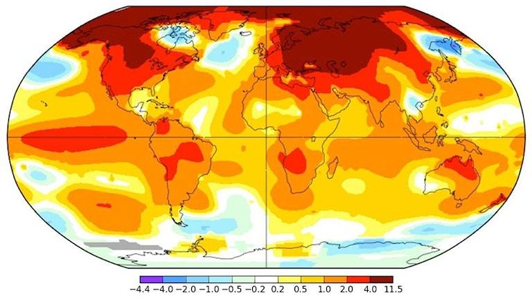 Global medeltemperatur februari 2016