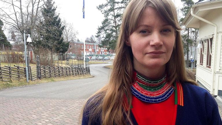 Josefina Lundgren Skerk, ordförande i Sametingets språknämnd.