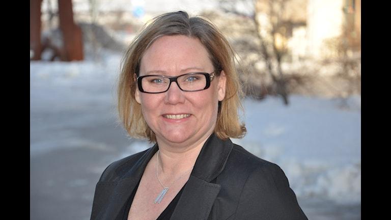 Sameradion & SVT Sápmis projektledare för SVT Meänkieli och allmän-TV, Carola Isaksson. Foto: Hugo Niemi Sameradion & SVT Sápmi