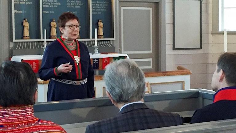 Ulla Barruk Sunna. Erkännandet av den umesamiska ortografin i Lycksele 6 april 2016.