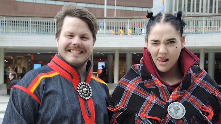 Tobias Poggats och Mimie Märak. Foto: Sameradion & SVT Sápmi