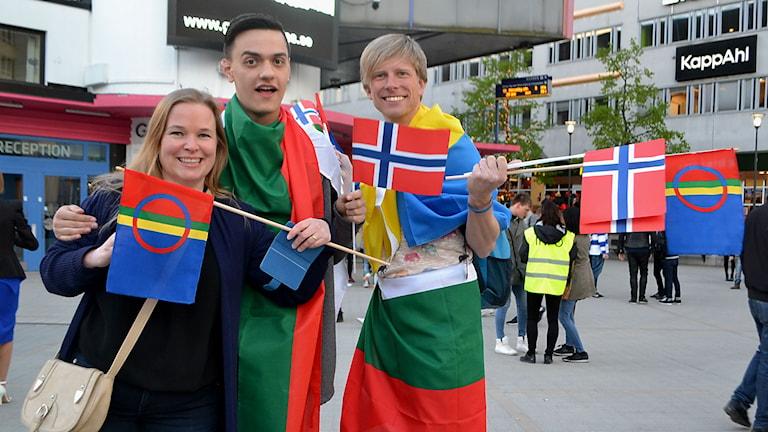 Anne Vik från Norge, Marco Luise från Italien och Simon Wennige från Tyskland.
