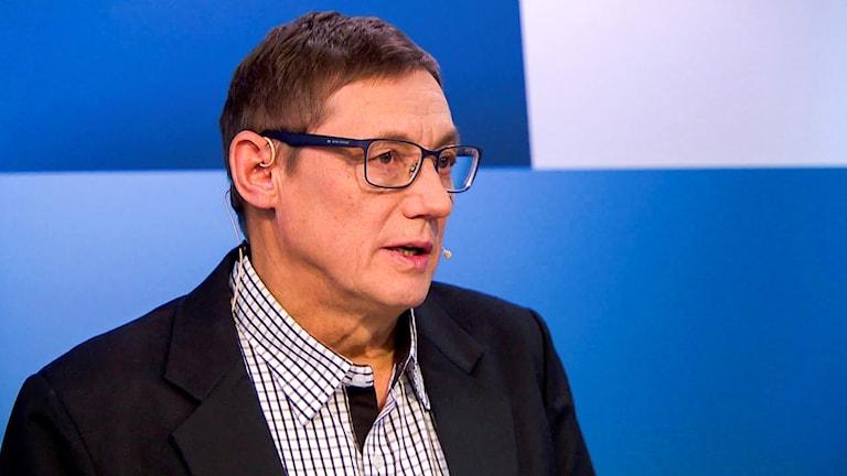 Nils Johan Haetta, ordförande i Samiska journalistförbundet.