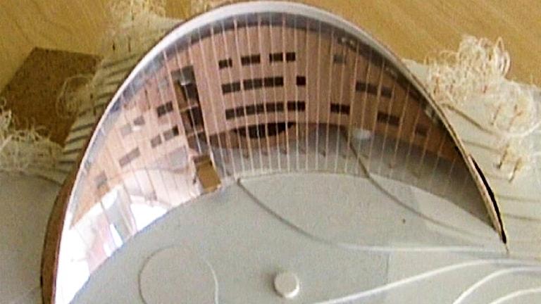 Sametingets framtida parlamentsbyggnad. Modell Murman arkitekter