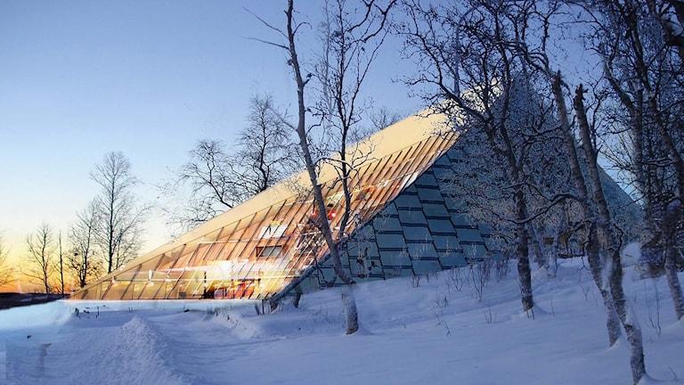 Badjáneapmi, Sametingets framtida parlamentsbyggnad. Illustration: Murman arkitekter