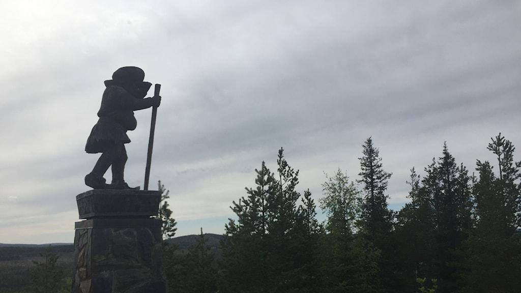 Nilagubben på Tjamstaberget i Malå