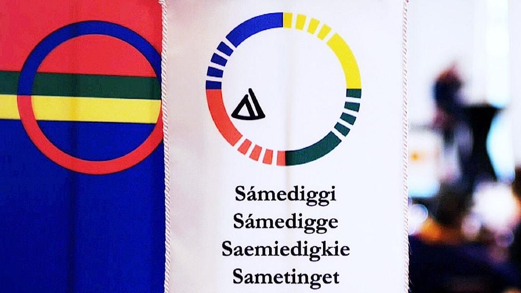 Samiska flaggan och sametingets falagga