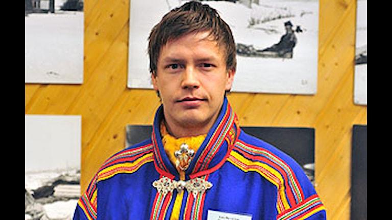Saminuorras ordförande Lars Miguel Utsi. Foto Anna-Maria Ahlén