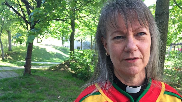 Heli Pruikkonen under sametingsvalet i Stockholm.