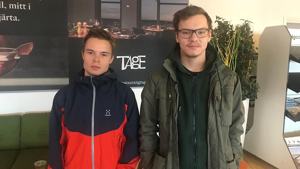 Samuel Pokka och Lars-Ánte Wasara