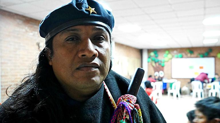 Lucho Acosta, nationell samordnare för urfolkens väktare i Colombia
