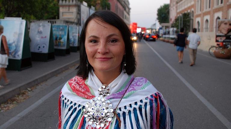 Anne Lajla Utsi, Internašunála Sámi filbmainstituhtta. Foto: Sameradion & SVT Sápmi