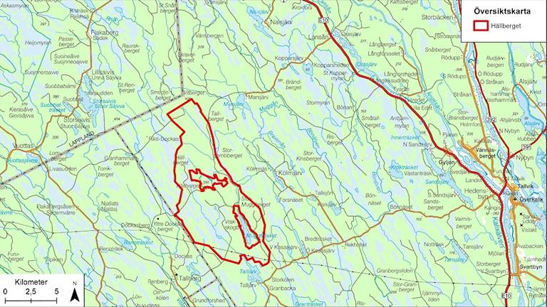 Översiktskarta Hällberget