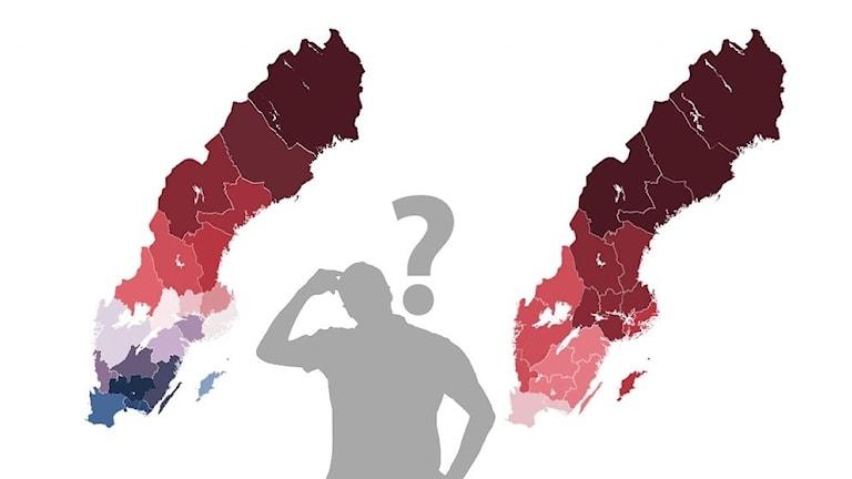 Regionindelning grafik