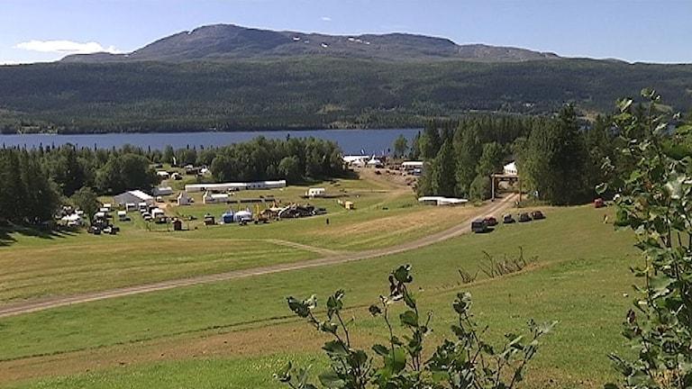 Vybild över Kall, Åre kommun.