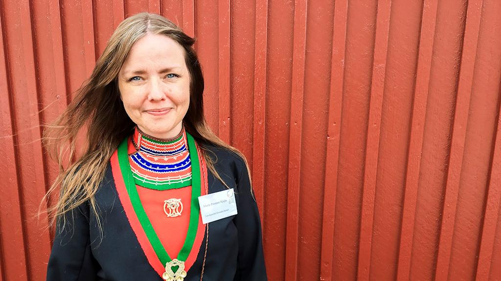 Marie Persson Njajta, partiledare för Landspartiet svenska samer, vill se större samiskt medieutbud.