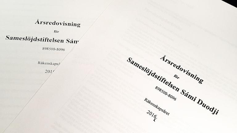 Sámi Duodjis årsredovisningar 2015 och 2016