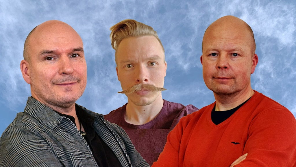 Thomas Sarri, Olov Anders Sikku och Jörgen Heikki diskuterar bland annat röstlängden i podden Politik Sápmi.