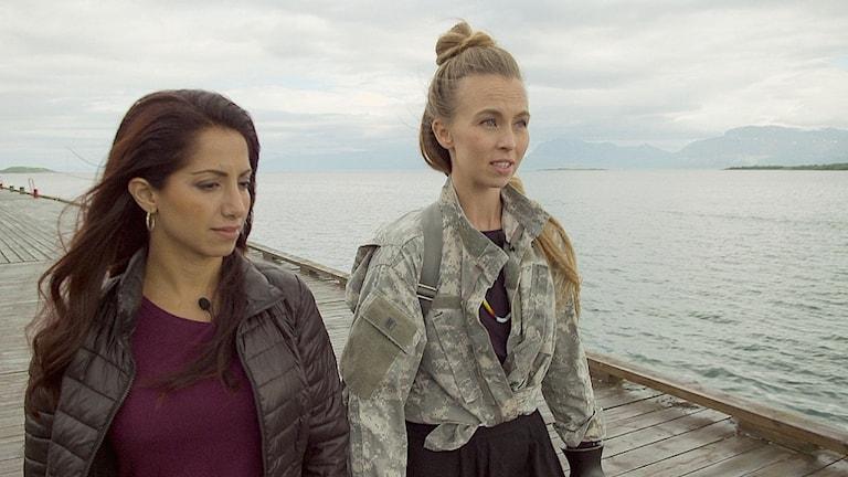 Khazar Fatemi och Sofia Jannok i programserien Kultur i farozonen.
