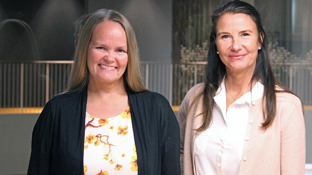 Annica Henelund och Eva Lönnelid på Kiruna kommun.