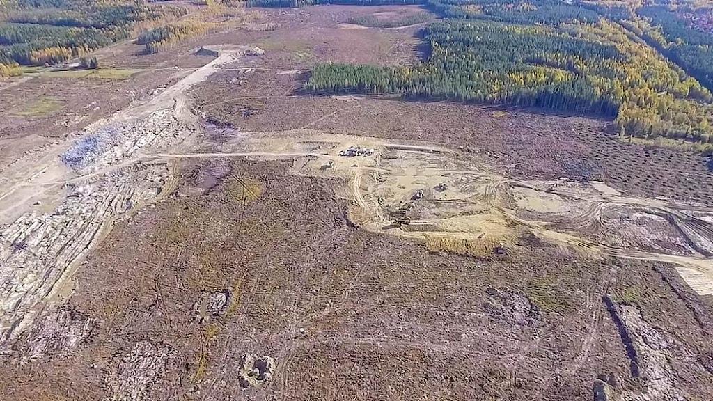 Platsen där Northvolts batterifabrik i Skellefteå ska ligga