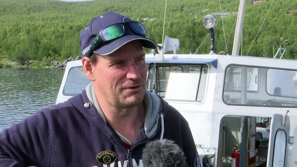 Jakob Nygård, ny ägare av turistbåten MS Storlule, Áhkájávrre