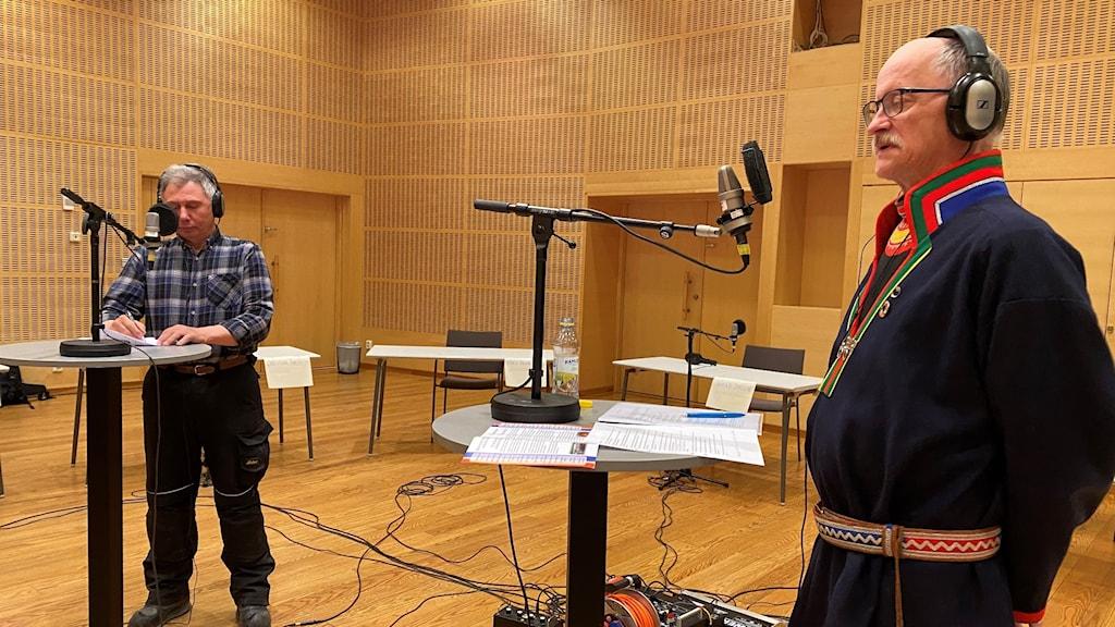Ronny Svarto och Jan Rannerud, sametingsvalet 2021.