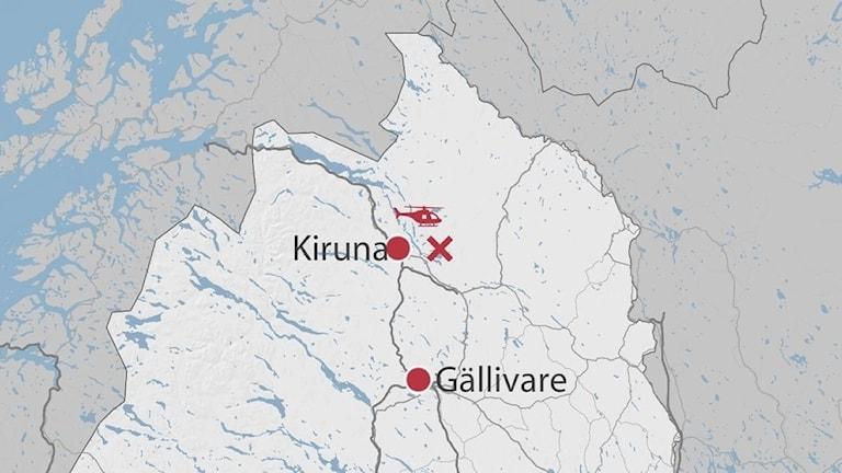 Befarad drunkningsolycka i Kiruna kommun.