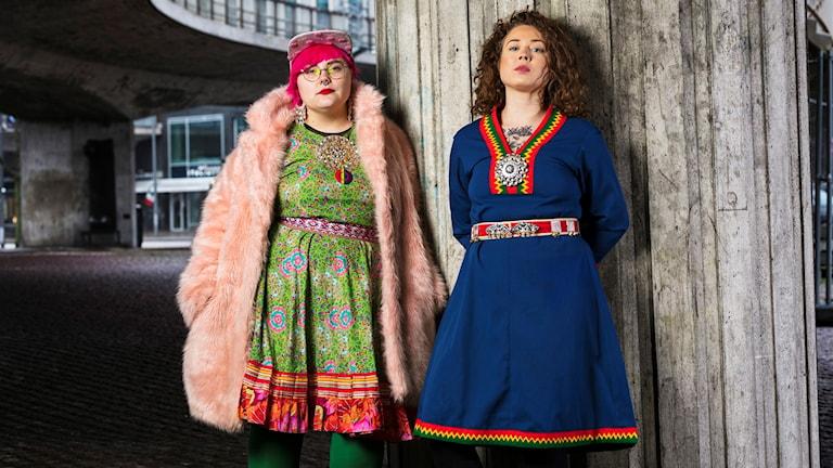 Sameradiopodden Merethe Kuhmunen och Monica Andersson  Sameradion Sveriges Radio Foto: Mattias Ahlm/Sveriges Radio